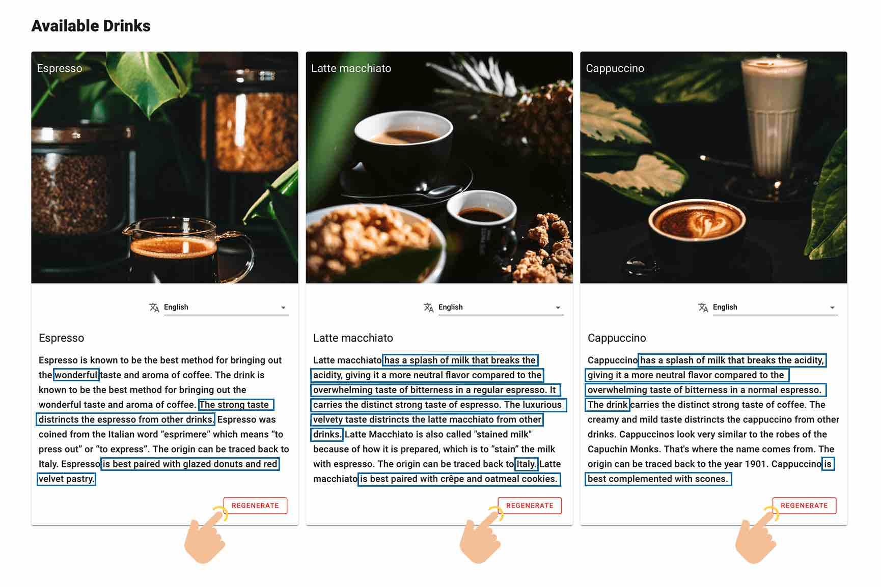 Xanevo Coffee Shop Example
