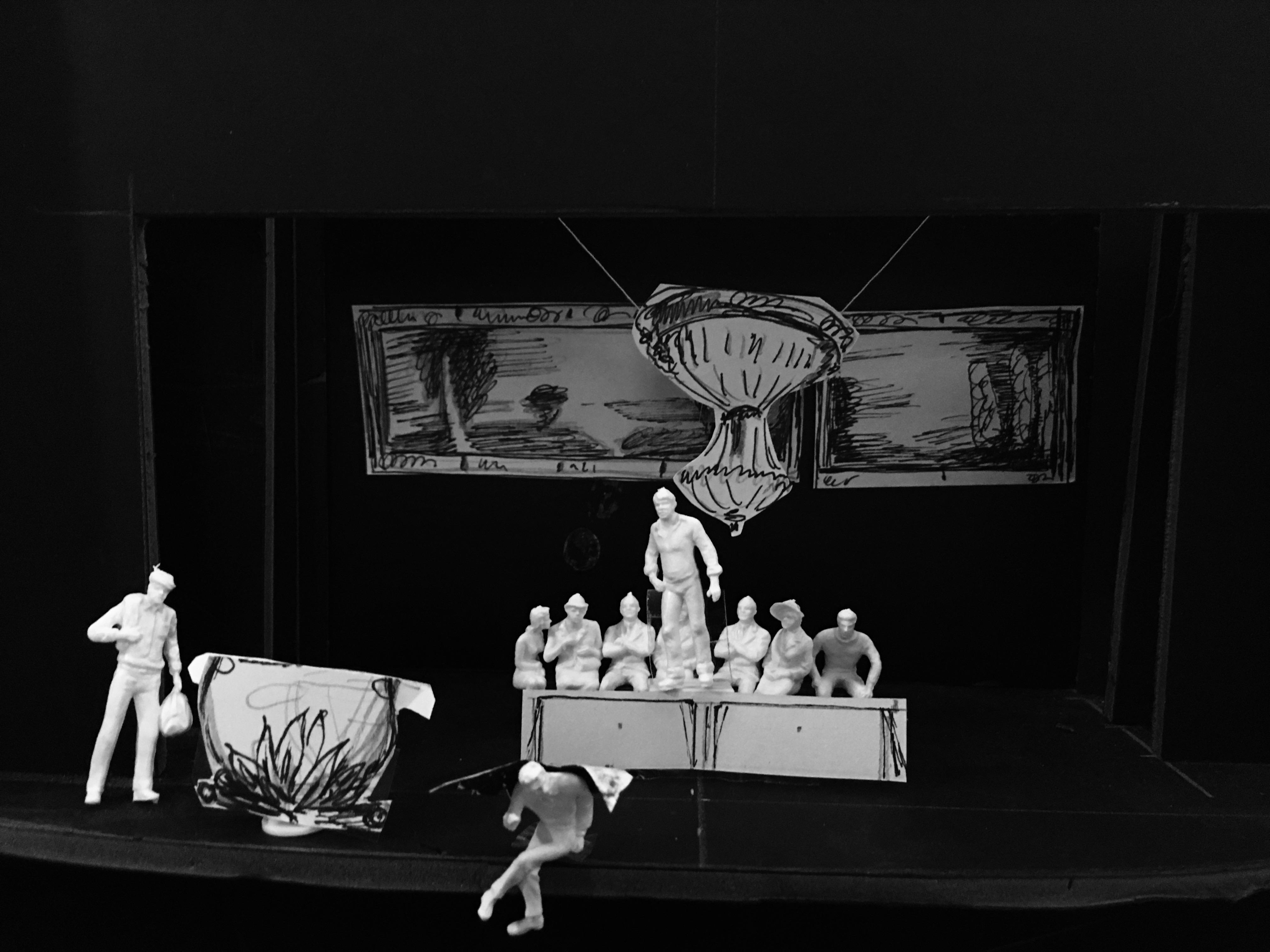 Bühnenbildentwurf Modell