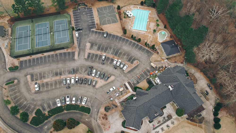 Roof replacement at Royal Lakes Country Club in Flowery Branch, GA.