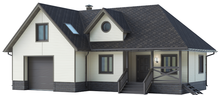 Render of a new home.