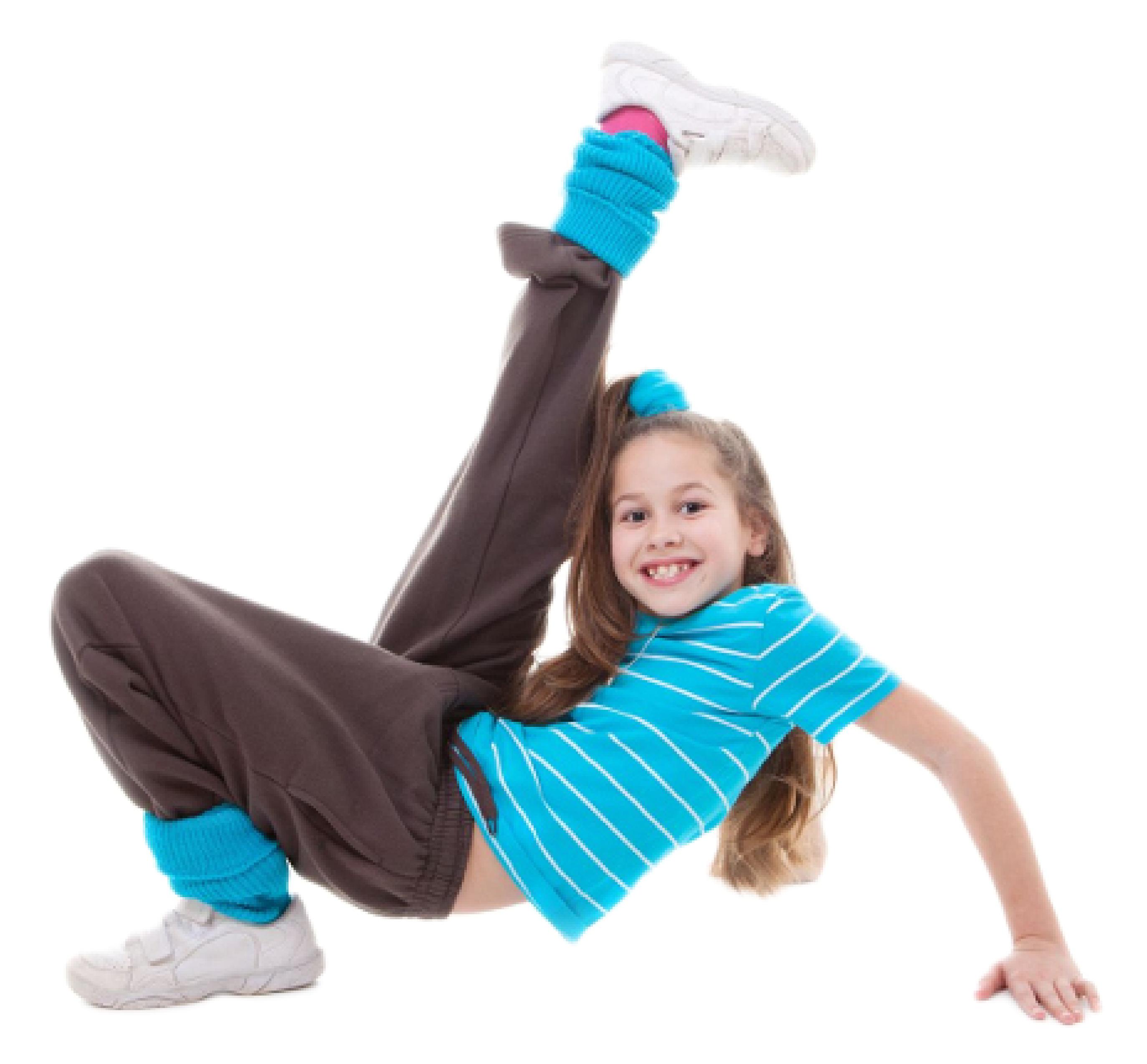 Girl learning hip-hop dance after-school or online