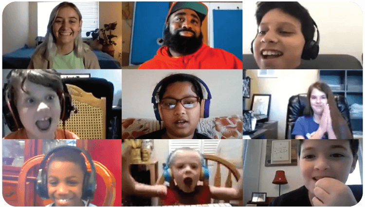 Live online beat making group lesson for kids