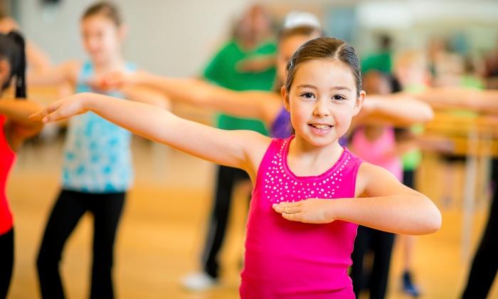 young girl dancing in let's dance after-school classes