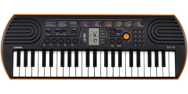 Casio SA-76 keyboard for kids in group piano lessons