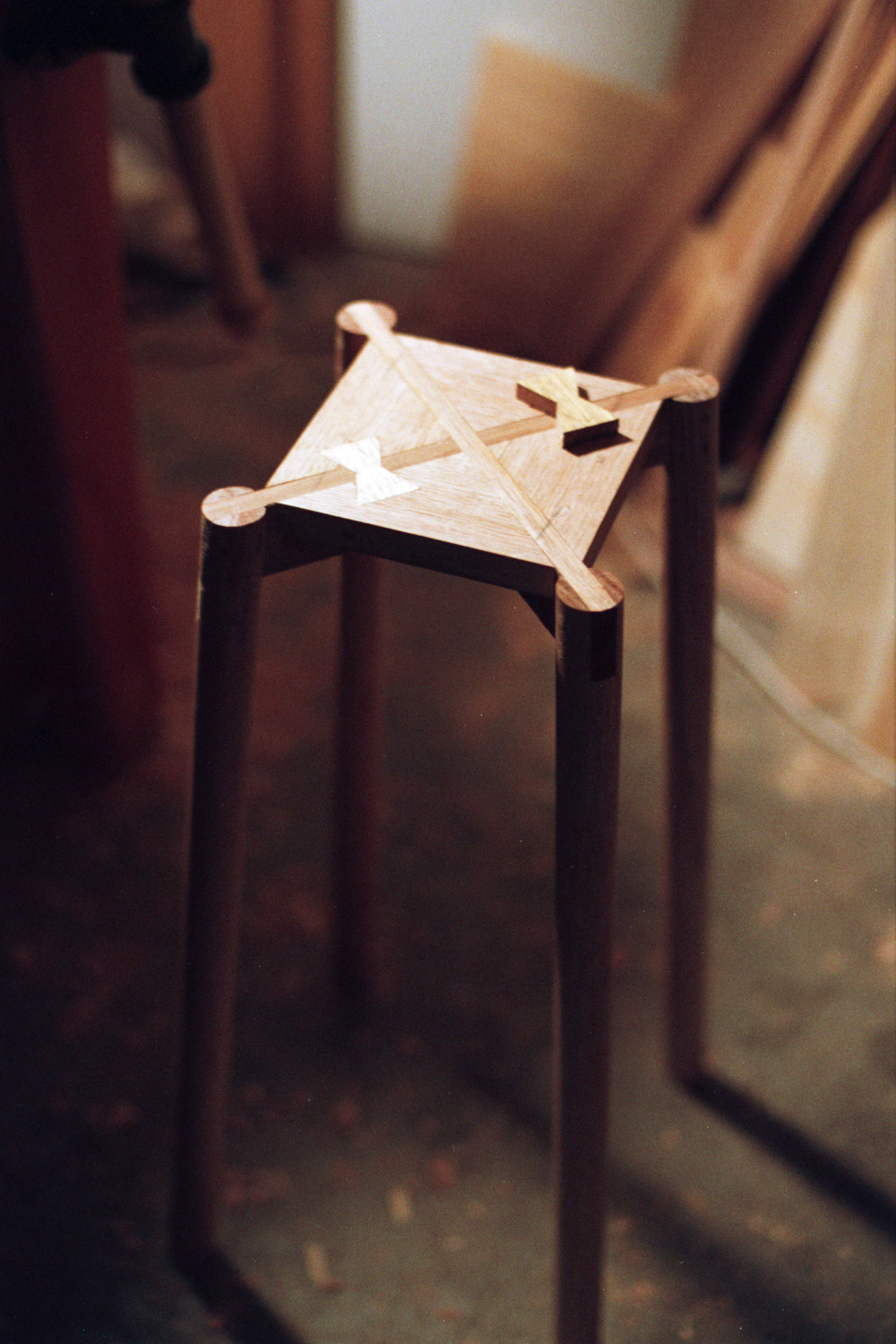 Stool building process joinery