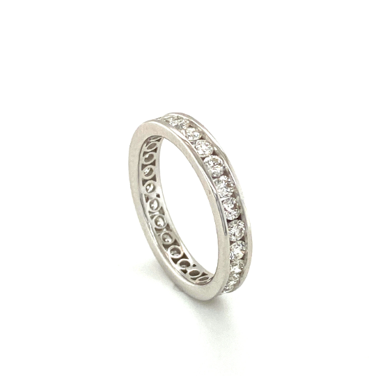 18K White Gold Channel Set Diamond Ring