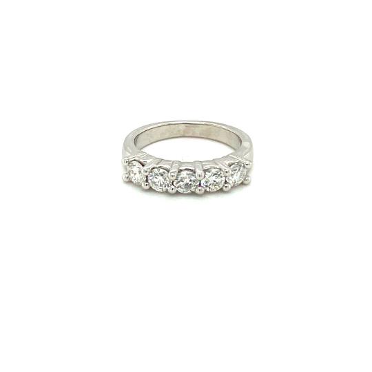 5 Diamond Platinum Ring