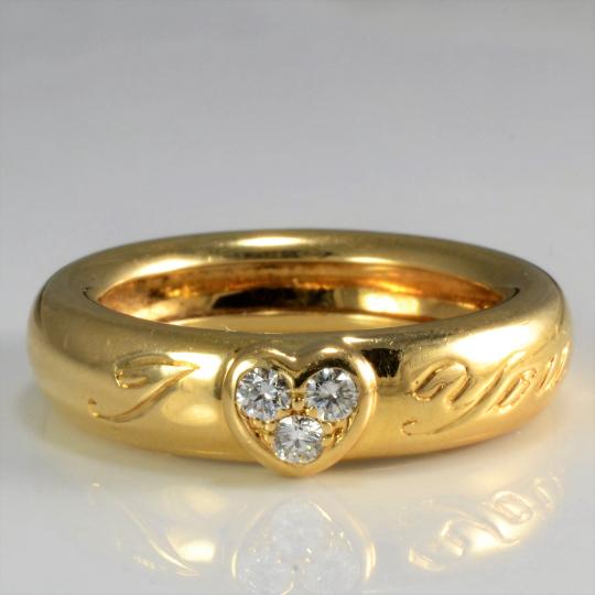 Tiffany & Co.' Diamond I Love You Band