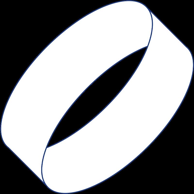 Weisser Endlos-Ring. Keyvisual  von Future Perfect.