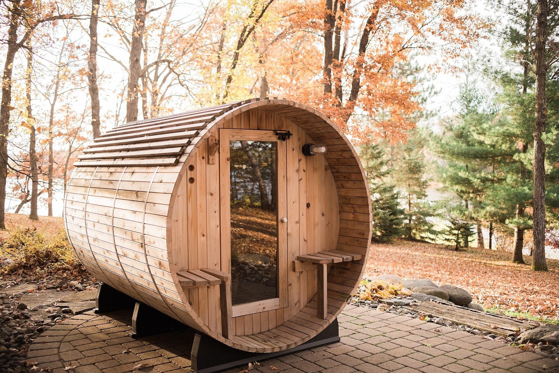 Barrel sauna van Verandi