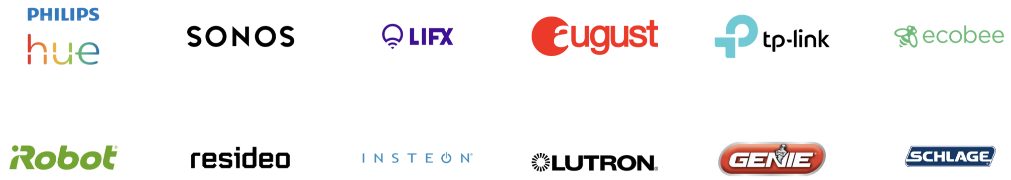 Yonomi integration partner logos