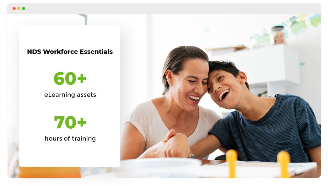 NDS Workforfoce Essentials Library offering 60+ assets and over 70+ hours of training