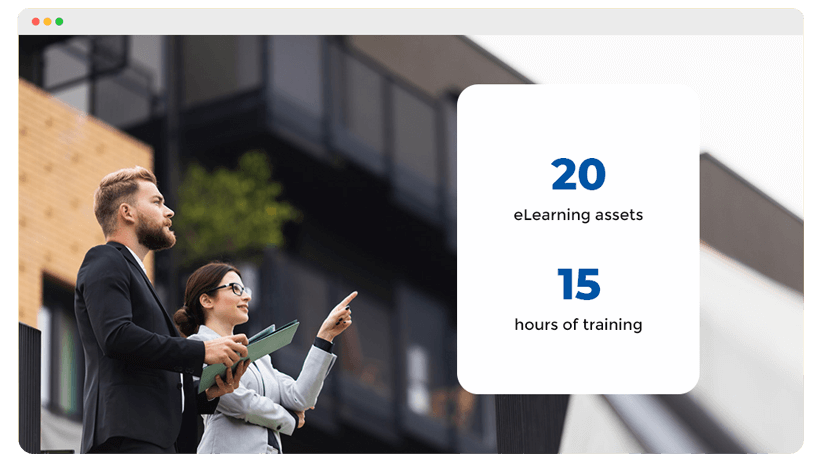 Course image explaining 20 eLearning and 15 hours of learning