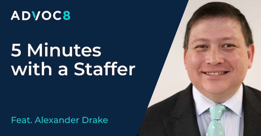 5 Minutes with a Staffer, featuring Alexander Drake