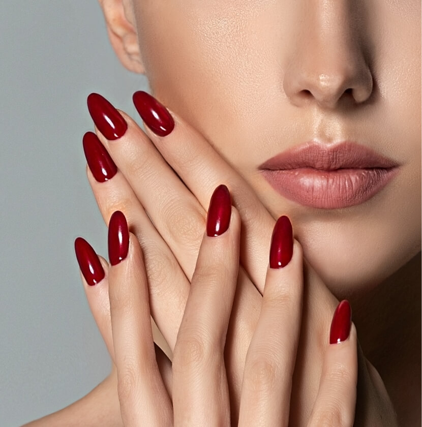 Sculpted Hard Nails Extensions