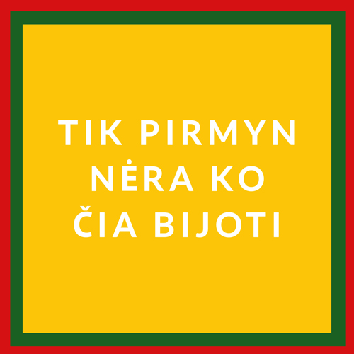 Lithuanian flag with text