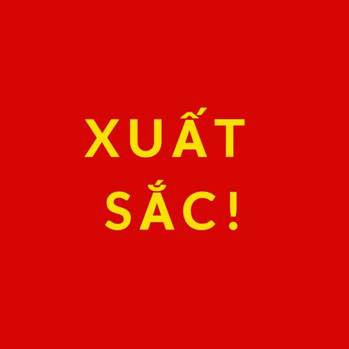 Vietnamese flag reading Xuat Sac