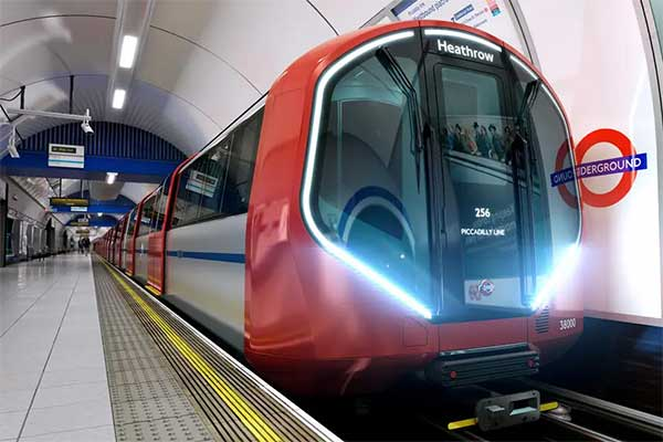 London Tube Train and Station