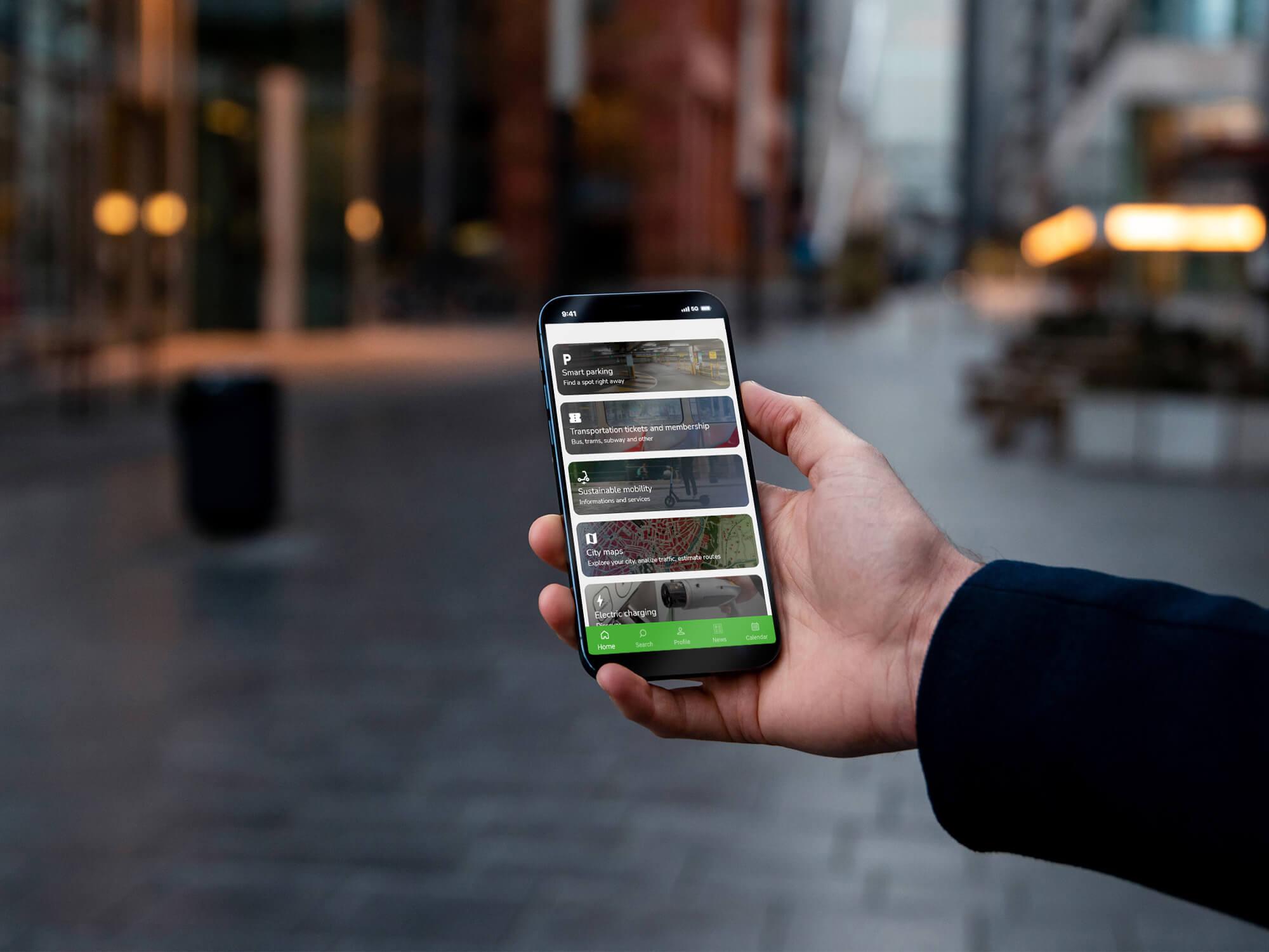 app on device