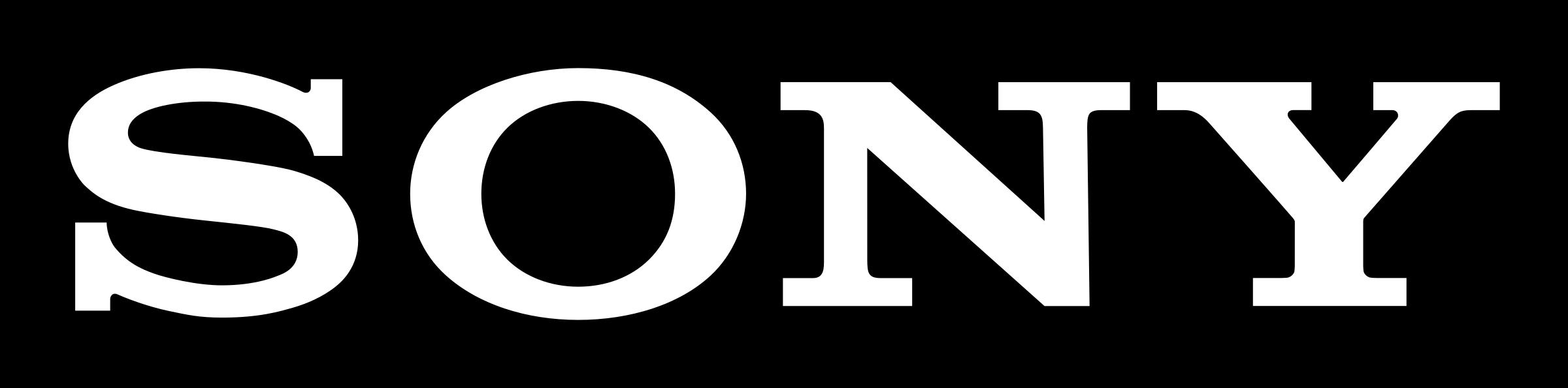 sony logo with background