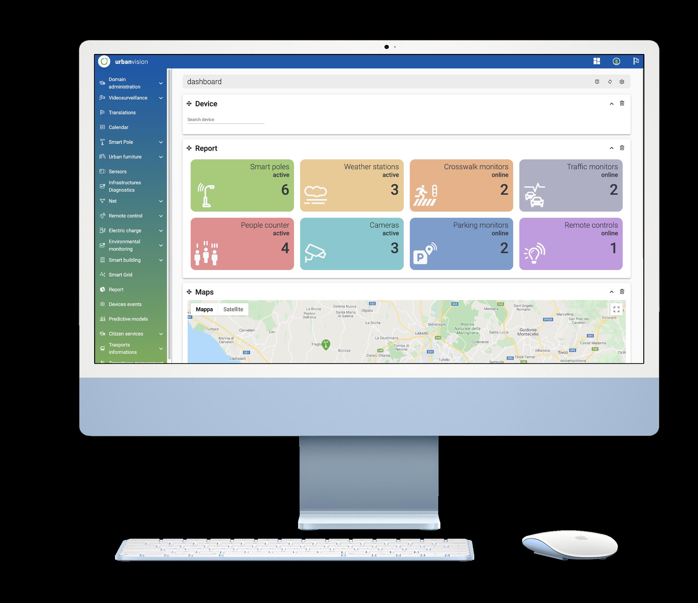 Urbanvision Web app preview on Mac
