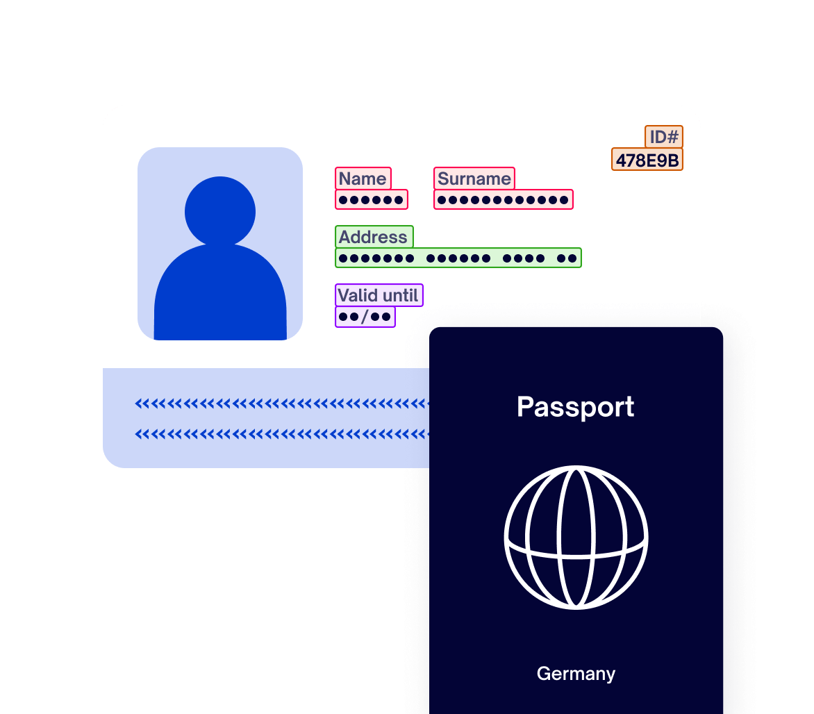 A Illustration of an passport and an scanned ID.