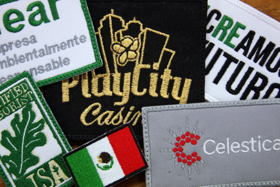 Logos bordados