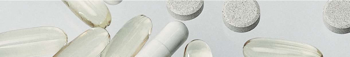An assortment of capsules on a table
