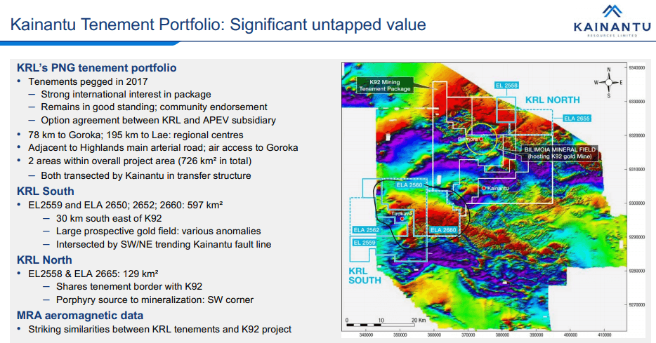 Kainantu Resources (KRL) - Gold & Copper in Elephant Country?