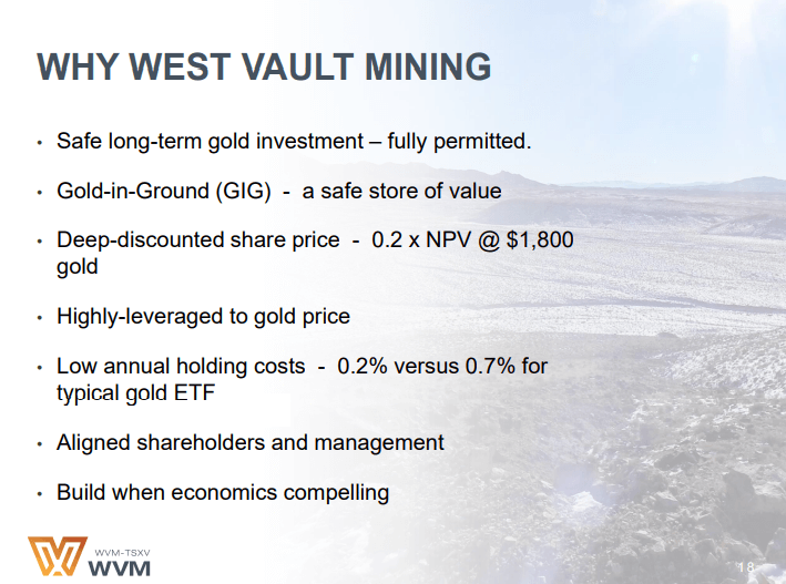 West Vault Mining (WVM) - Sometimes With Gold it Pays to do Nothing