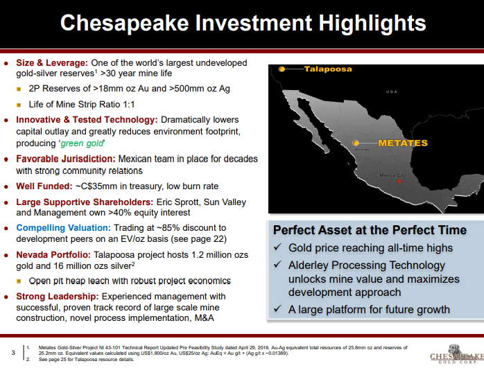 Chesapeake Gold (CKG) - New Technology Gives New Hope