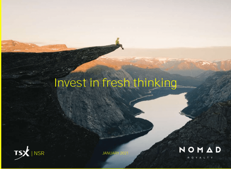 Nomad Royalty  (NSR) - Dividends, Cash Generation, Nothing Unexpected
