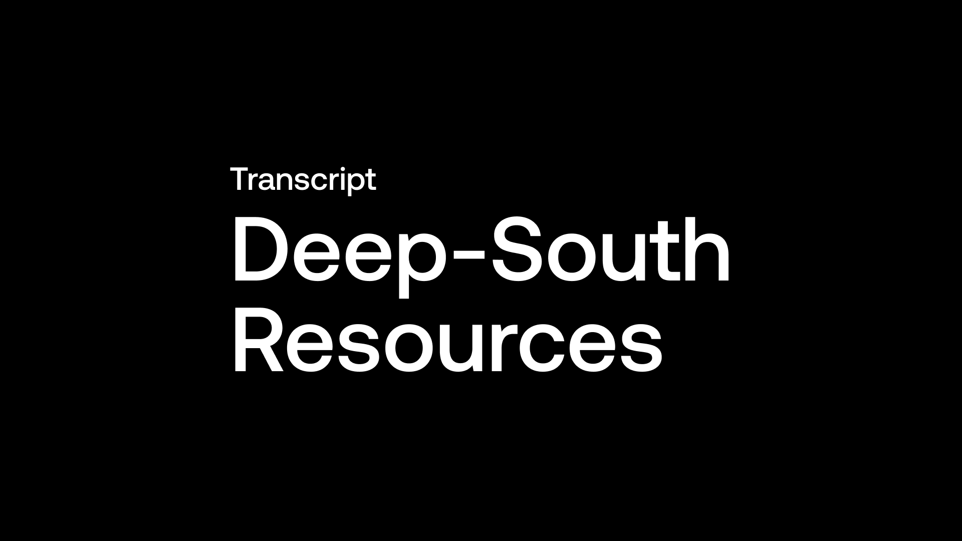 Transcript: Deep-South Resources (DSM) - Targeting Large Copper Resource by Q4/21