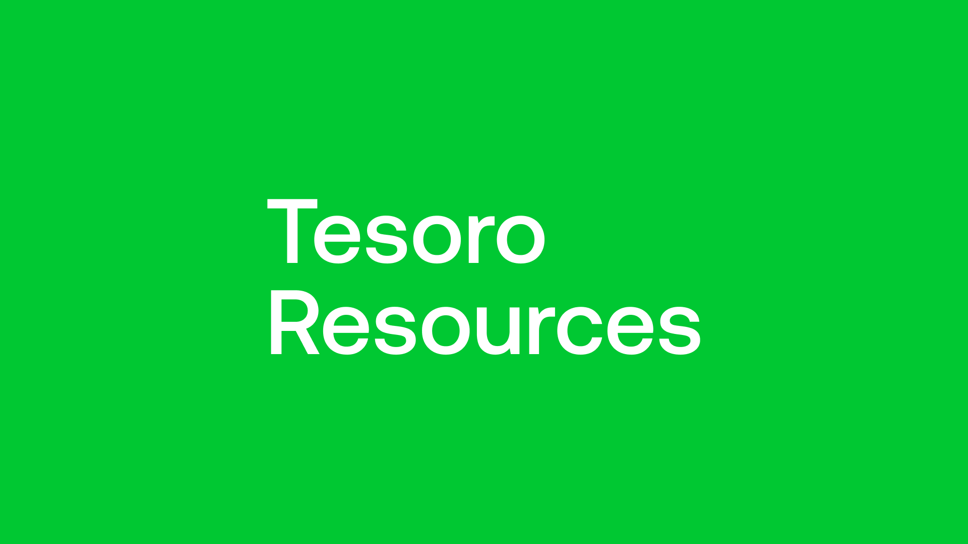 Tesoro Resources (TSO) - Resource Update By Year End