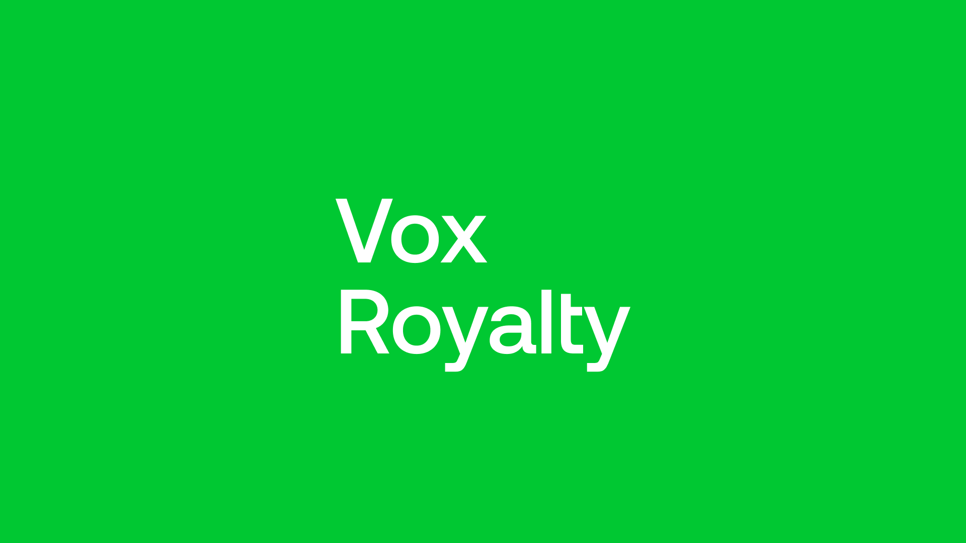 Vox Royalty (VOX) - Disciplined Anti Inflationary Investing!