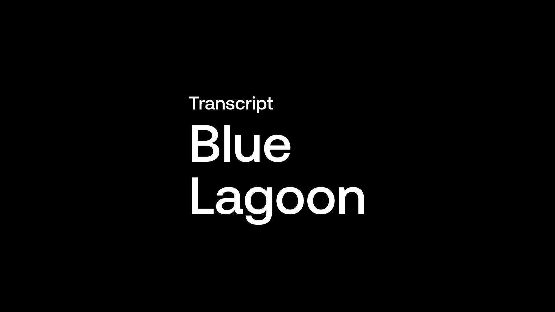 Transcript: Blue Lagoon Resources (BLLG) - Gold Producer Focused on Being Explorer