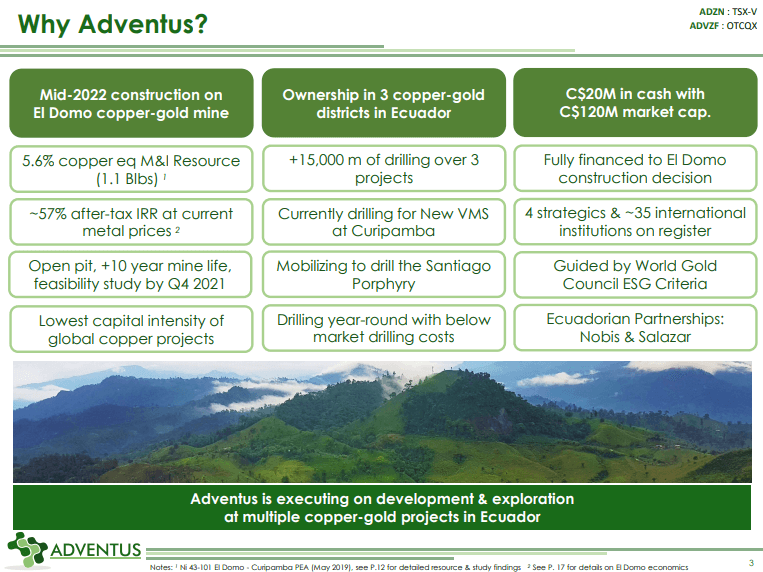 Adventus Mining (ADZN) - Selling Flagship Asset?