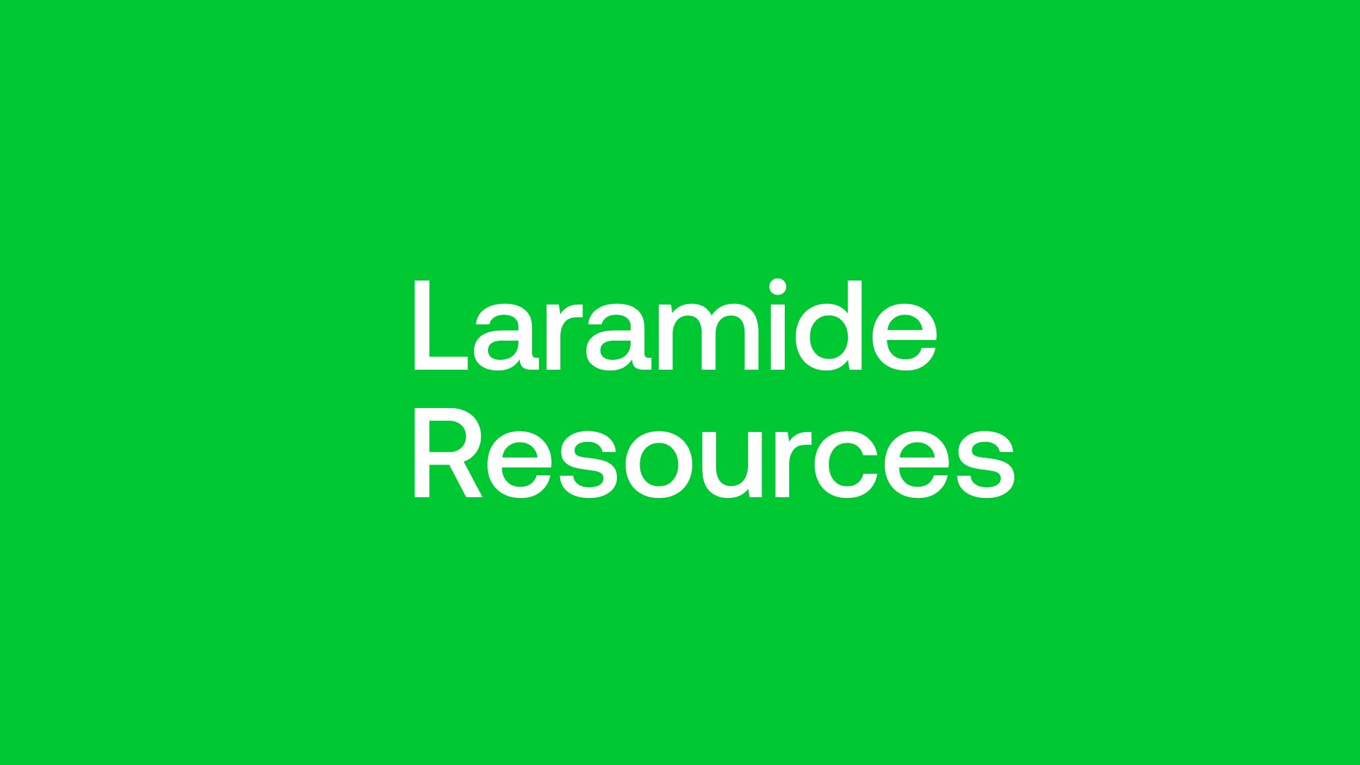 Laramide Resources (LAM) - With Uranium Timing is Everything