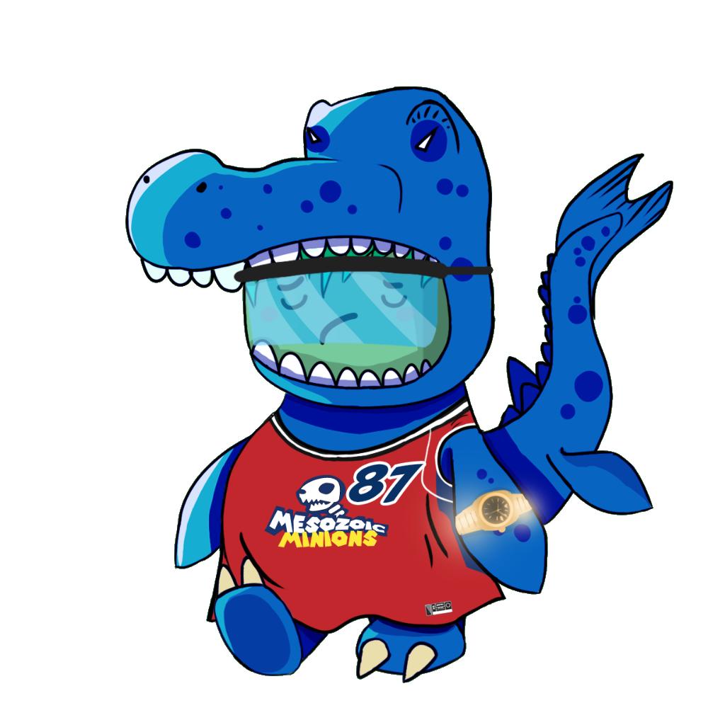Blue Mosasaurus Chibi Dinos - #87 Mesozoic Minions
