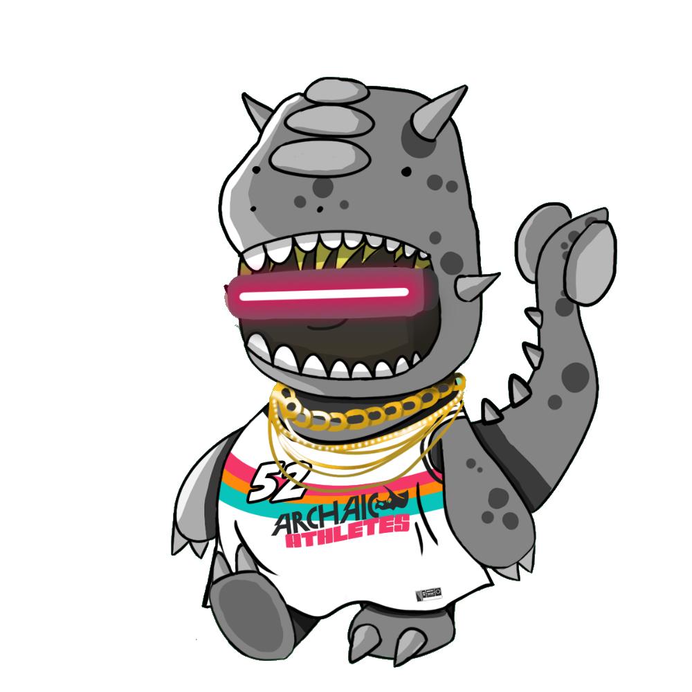 Grey Ankylasaurus Chibi Dinos - #52 Archaic Athletes