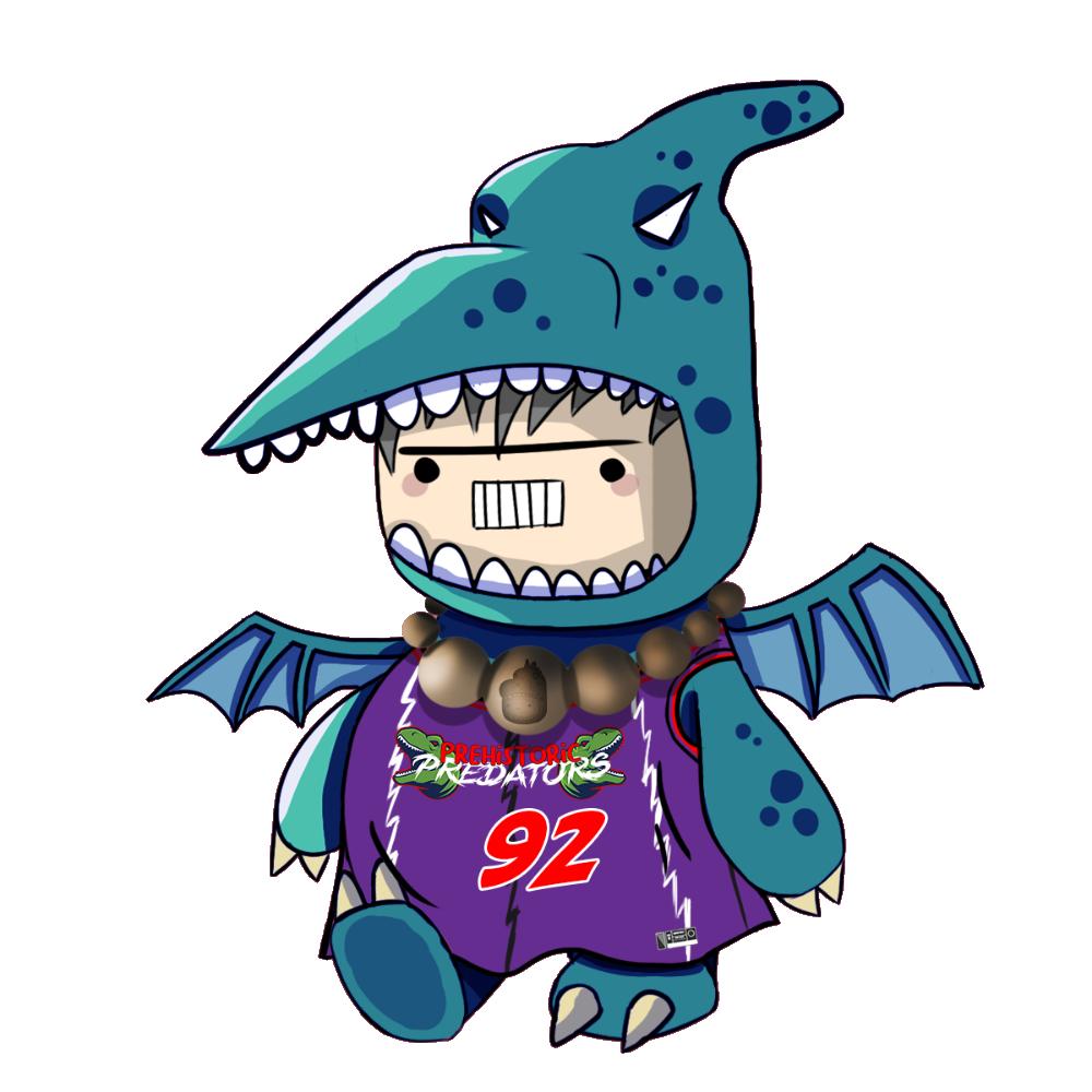 Blue Pterodactyl Chibi Dinos - #92 Prehistoric Predators