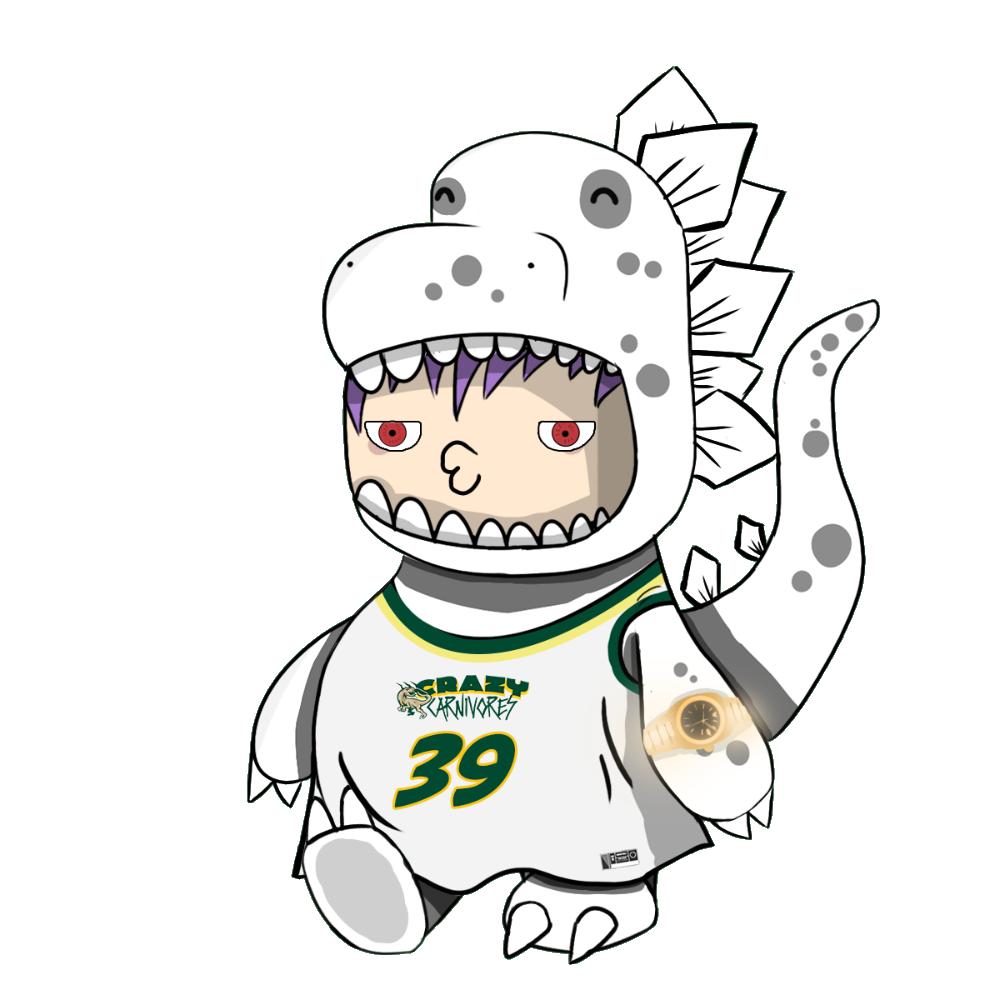 White Stegosaur Chibi Dinos - #39 Crazy Carnivores