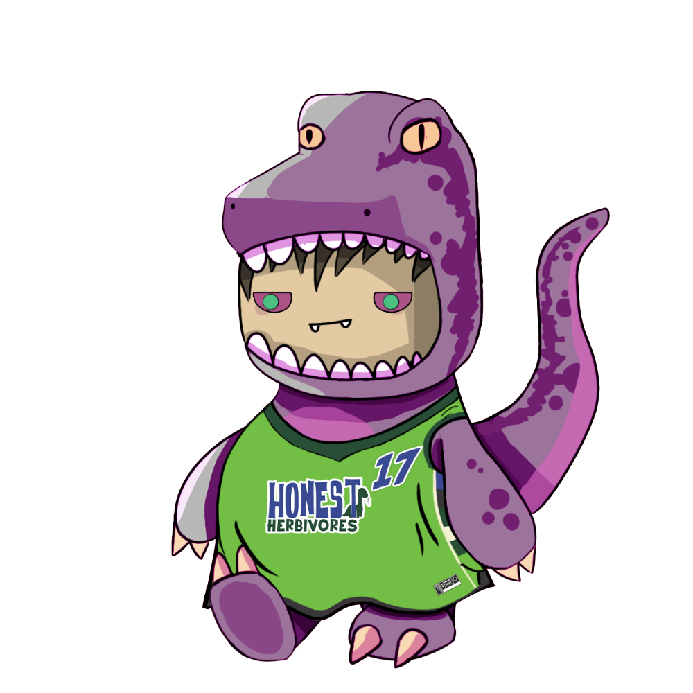 Purple Velociraptor Chibi Dinos - #17 Honest Herbivores