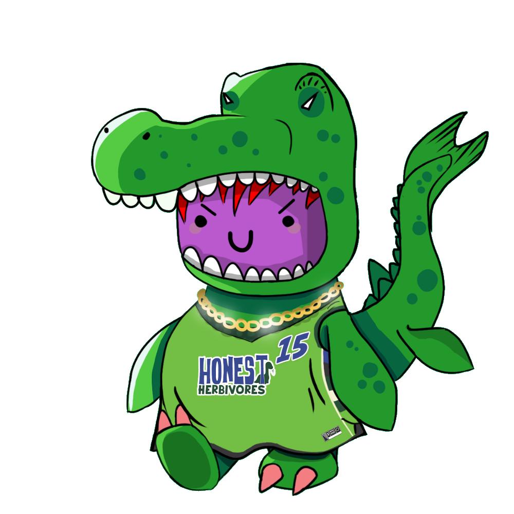 Green Mosasaurus Chibi Dinos - #15 Honest Herbivores