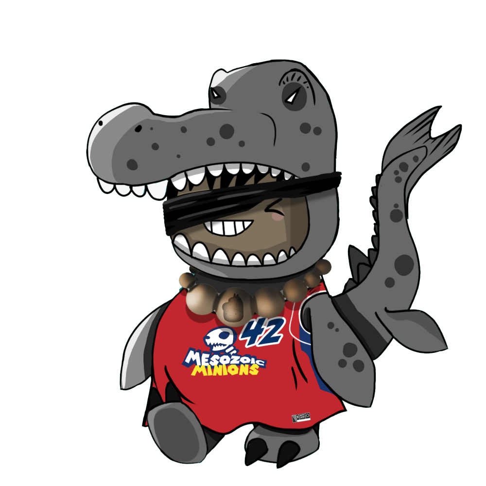 Dark Grey Mosasaurus Chibi Dinos - #42 Mesozoic Minions