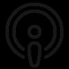 Podcast icon.