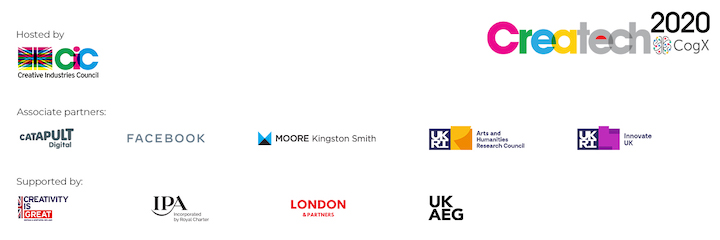 A selection of the CreaTech 2020 sponsors.