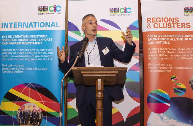 Tim Davie at CIC Reception