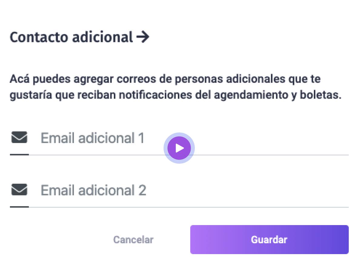 contactos adicionalespara notificaciones de Encuadrado