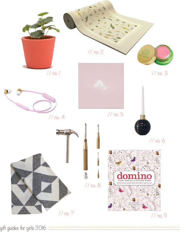 Gift Guide for Girls 2016 // Claire Zinnecker Design